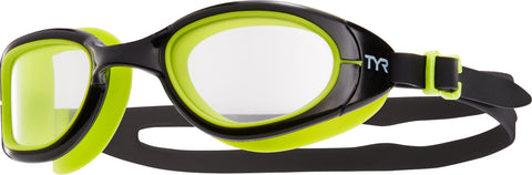 TYR - Special Ops 2.0 Polarized Green Swim Goggles / Clear Lenses