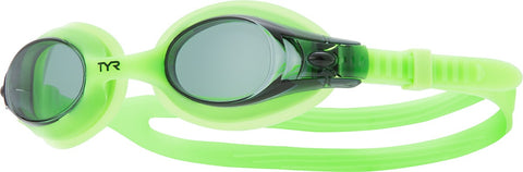 TYR - Swimples Fluorescent Green Swim Goggles / Smoke Lenses