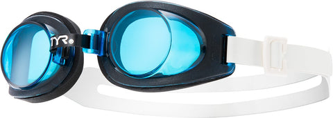 TYR - Youth Foam Black Swim Goggles / Blue Lenses