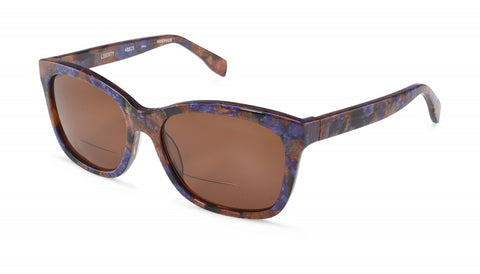 Scojo New York - Liberty Sun Purple Brown Mosaic Reader Sunglasses / Brown +2.50 Lenses
