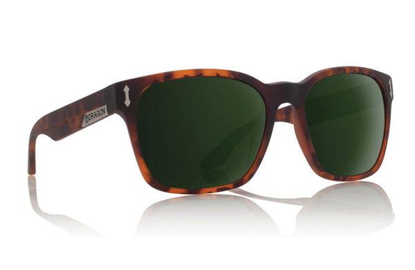 Dragon - Liege Matte Tortoise / Green G15 Sunglasses