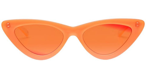 Le Specs - The Last Lolita Neon Orange Sunglasses / Orange Mirror Lenses