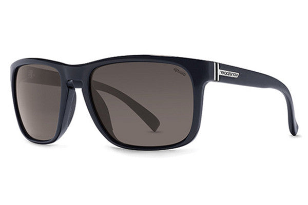 VonZipper - Lomax Black Gloss PBV Sunglasses, Wildlife Vintage Grey Polarized Lenses
