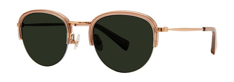 Seraphin - Lourdes Rose Gold Sunglasses / Green Lenses