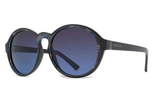 VonZipper - Lula Black Color Swirl SBB Sunglasses, Brown Blue Gradient Lenses