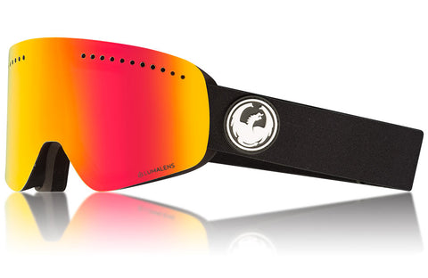 Dragon - NFX Black Snow Goggles / Lumalens Red Ion + Lumalens Rose Lenses