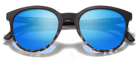 Sunski - Makanis Black Sunglasses / Aqua Polarized Lenses