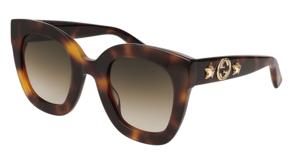 adca7ff361d Gucci - GG0208S-003 Havana Sunglasses   Brown Gradient Lenses – New York  Glass
