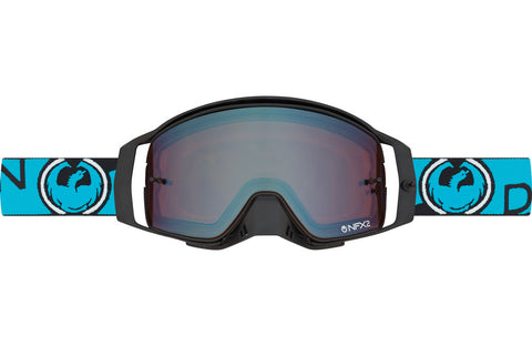 Dragon - NFX2 Optimus Blue MX Goggles / Injected Lumalens Flash Blue + 10 Pack Tear Offs + Lens Shield Lenses