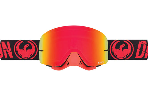 Dragon - NFX Merge Flame MX Goggles / Red Ion + Clear Lenses