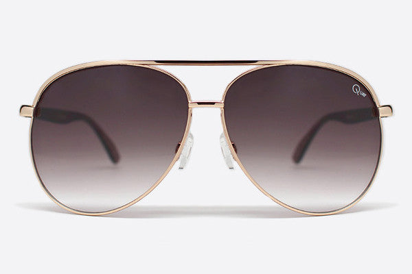 Quay Macaw Gold Sunglasses, Brown Lenses