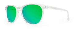 Knockaround - Mai Tais Clear Sunglasses, Green Moonshine Lenses