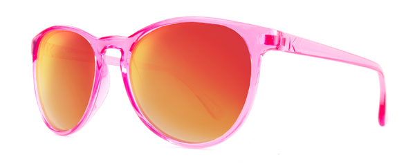 Knockaround - Mai Tais Candy Pink Sunglasses, Red Sunset Lenses