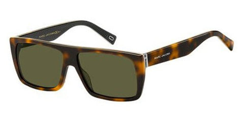 Marc Jacobs - Marc Icon 096 S Havana Green Striped  Sunglasses / Green Lenses