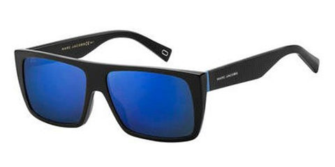 Marc Jacobs - Marc Icon 096 S Black Blue Sunglasses / Blue Sky MIrror Lenses
