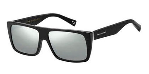 Marc Jacobs - Marc Icon 096 S Black White Sunglasses / Silver Mirror Lenses