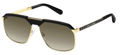 Marc Jacobs - Mj 625 S Gold Black Sunglasses / Brown Gradient Lenses