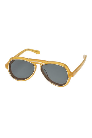 Karen Walker - Mcqueen Amber Sunglasses / Green Mono Lenses