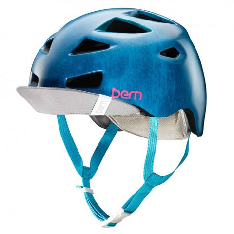 Bern - Melrose Satin Blue Acid Wash Bike Helmet