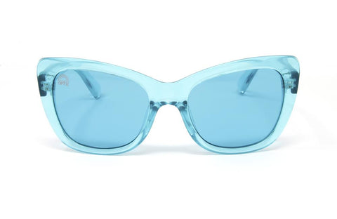 RainbowOPTX - Vega Transparent Violet Sunglasses / Aqua Lenses
