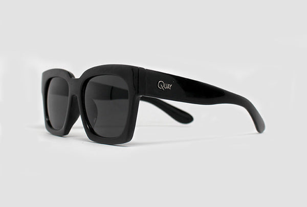 Quay Midnight Runner Black Sunglasses