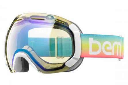 Bern - Monroe Rainbow Goggles, Yellow / Blue Light Mirror Lenses