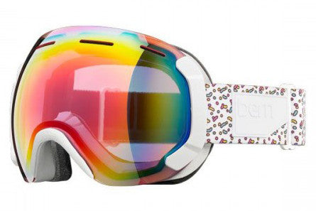 Bern - Monroe White Spinkles Goggles, Rose Light Mirror Lenses