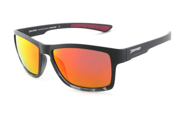 Peppers - Tailside Black Sunglasses / Red Mirror Polarized Lenses