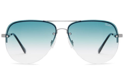 Quay Muse Fade Silver / Blue Sunglasses