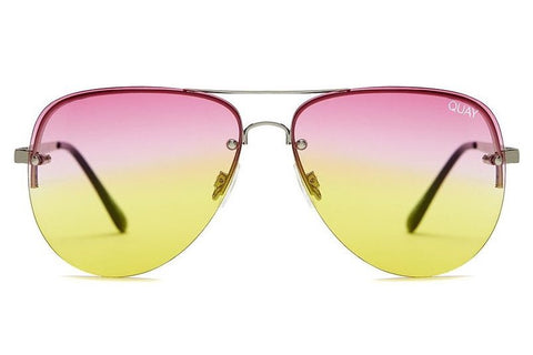 Quay Muse Fade Pink / Yellow Sunglasses