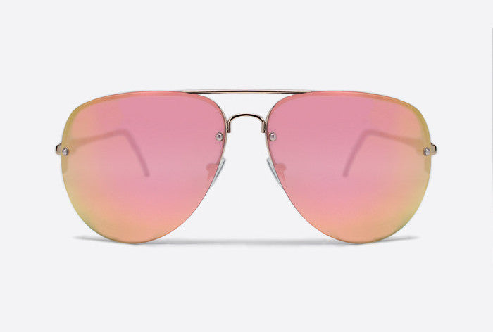 Quay Muse Gold / Pink Sunglasses