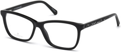 Swarovski - SK5258 Shiny Black Eyeglasses / Demo Lenses