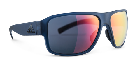 Adidas - Jaysor Blue Matte Sunglasses / Red Mirror Lenses