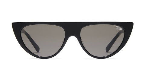 Quay - Run Away Black Sunglasses / Smoke Lenses