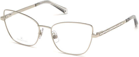 Swarovski - SK5287 Shiny Palladium Eyeglasses / Demo Lenses