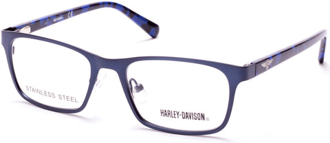 Harley-Davidson - HD0136T Matte Blue Eyeglasses / Demo Lenses