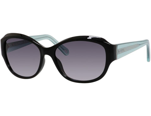 Fossil - 3028  Black Crystal Blue  Sunglasses / Gray Gradient Lenses