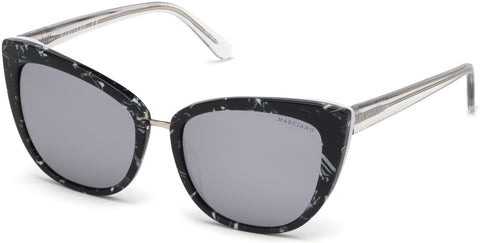 Marciano - GM0783 Black Sunglasses / Smoke Mirror Lenses