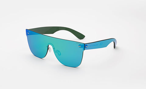 Super - Flat Top Tuttolente Azure Sunglasses / Blue Mirrored Lenses