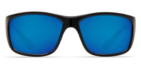 Costa - Tasman Sea Shiny Black Sunglasses / Blue Polarized Glass Lenses