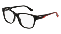Puma - PJ0005O Junior Black Eyeglasses / Demo Lenses