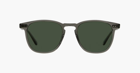 Garrett Leight - Brooks Grey Crystal Sunglasses / Semi Flat Pure G15 Lenses