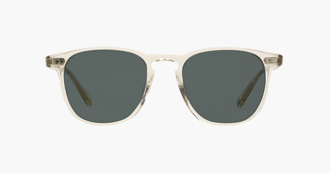 Garrett Leight - Brooks Champpagne Sunglasses / Semi Flat Blue Smoke Lenses