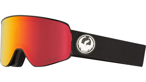 Dragon - NFX2 Black Snow Goggles / Red Ion + Rose Lenses