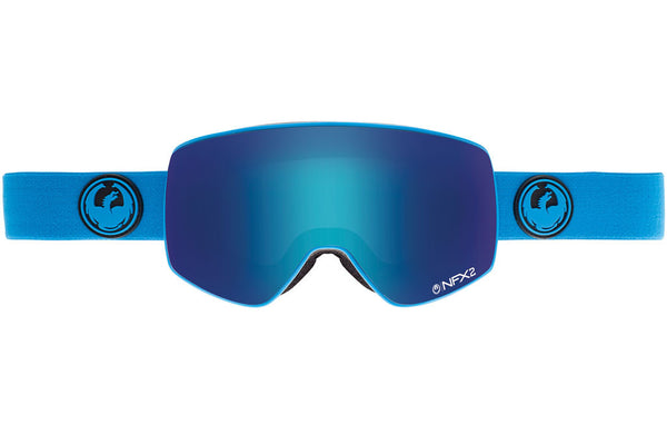 Dragon - NFX2 Azure / Blue Steel + Yellow Red Ion Goggles
