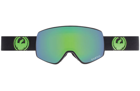 Dragon - NFX2 Jet / Green Ion + Yellow Blue Ion Goggles