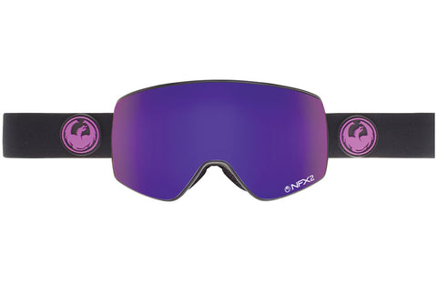 Dragon - NFX2 Jet / Purple Ion + Yellow Red Ion Goggles
