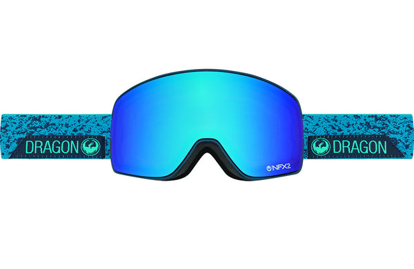 Dragon - NFX2 Stone Blue / Blue Steel + Yellow Red Ion Goggles