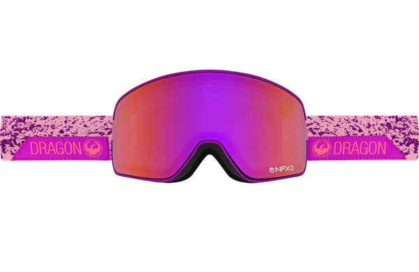 Dragon - NFX2 Stone Pink / Purple Ion + Pink Ion Goggles