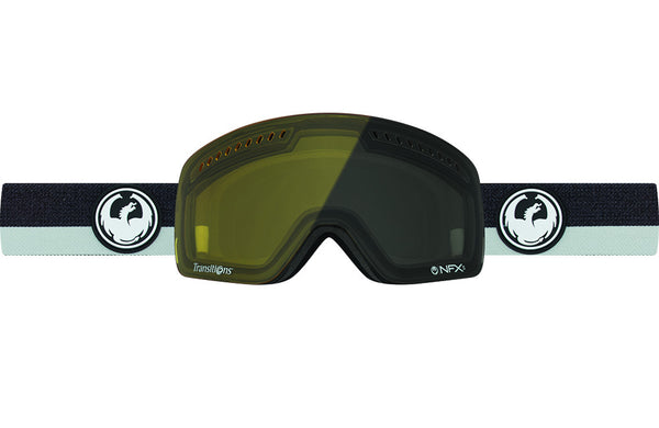 Dragon - NFXs Flux Grey / Injected Transitions Yellow Goggles